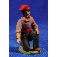 Shepherd catalanaddoring  8 cm clay painted Delgado