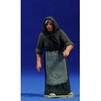 Pastora catalana vieja 8 cm barro pintado Delgado