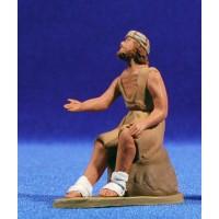 Pastor hebreo pidiendo 8 cm barro pintado Delgado
