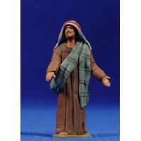 Pastor hebreo de camino 8 cm barro pintado Delgado