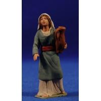 Pastora hebrea con jarra al lado 8 cm barro pintado Delgado