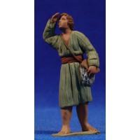 Pastor hebreo mirando 8 cm barro pintado Delgado