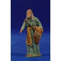 Pastor hebreo tunica 8 cm barro pintado Delgado