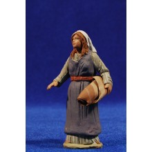 Pastor hebrea con telas 8 cm barro pintado Delgado
