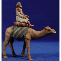 Shepherd with camel hebrew 8 cm clay painted Delgado