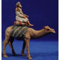 Pastor hebreo con camello 8 cm barro pintado Delgado