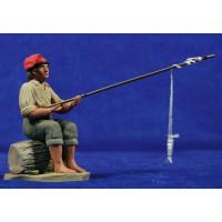 Pescador catalán 12 cm barro pintado Delgado