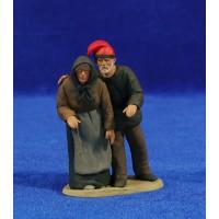 Pastor pareja catalanes 8 cm barro pintado Delgado