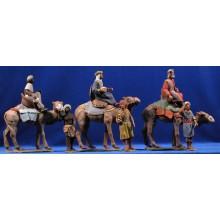 Reyes a camello 12 cm barro pintado Delgado