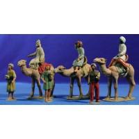 Reyes a camello 8 cm barro pintado Delgado