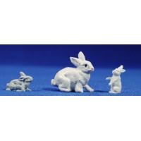 Conejo 8 cm plástico Fabregat