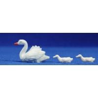 Cisne nadando 8 cm plástico Fabregat
