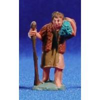 Pastor con fajo leña 4 cm plástico Fabregat