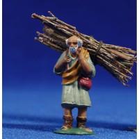 Pastor con leña 4 cm plástico Fabregat