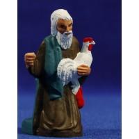 Pastor adorando con gallo 10 cm plástico Fabregat