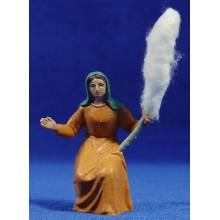 Pastora hilandera 10 cm plástico Fabregat