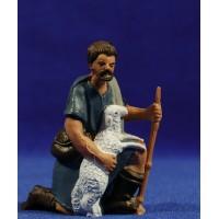 Pastor Adorando con cordero 10 cm plástico Fabregat