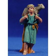 Pastor con cordero 10 cm plástico Fabregat