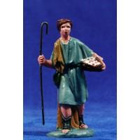 Pastor con cesto y baston 10 cm plástico Fabregat