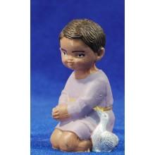 Pastor adorando con pato 8 cm plástico moderno Fabregat