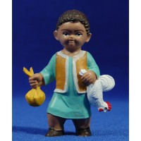 Pastor con gallo 8 cm plástico Fabregat