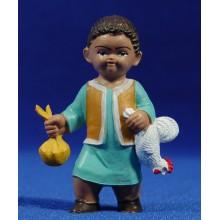 Pastor con gallo 8 cm plástico moderno Fabregat