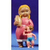 Pastora con niño 8 cm plástico Fabregat