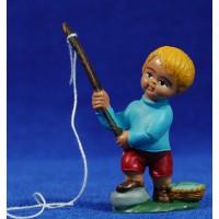 Pescador moderno con caña 7 cm plástico Fabregat