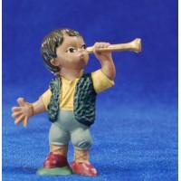 Pastor con trompeta 5 cm plástico Fabregat