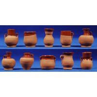 Jarra cerámica con barniz  4 cm barro