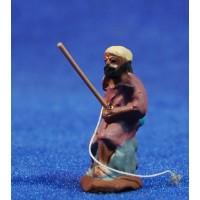 Pescador 3 cm barro pintado Fabregat