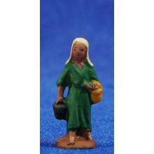 Pastora con cetos 3 cm barro pintado Fabregat