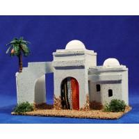 Casa hebrea con palmera 19x12x14 cm corcho