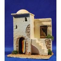 Casa hebrea con escalera 15x9x19 cm corcho