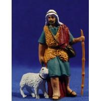 Pastor con cordero al lado 10 cm plástico Fabregat