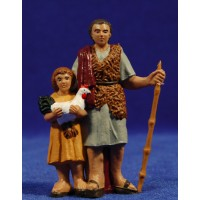 Pastor con niño 10 cm plástico Fabregat