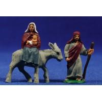 Huida a Egipto 4 cm plastico