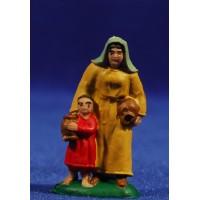 Pastora con niño 4 cm plástico Fabregat