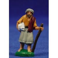 Pastor con cordero 4 cm plástico Fabregat