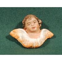 Cabeza de ángel 2,5 cm barro pintado