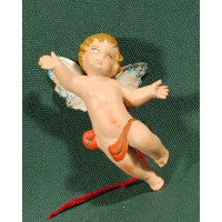 Ángel colgar 5,5 cm barro pintado