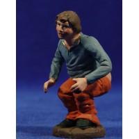 Caganer 12 cm barro pintado