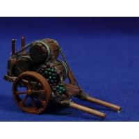 Carro vino 6,5 cm madera