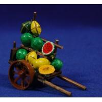 Carro fruta 6,5 cm madera
