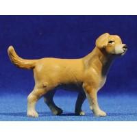 Perro 12 cm barro pintado
