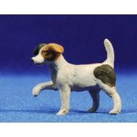 Perro Pequeño 11 cm barro pintado