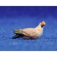 Pájaro 8 cm barro pintado