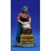 Pastora lavandera 3 cm barro pintado