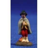 Pastor con flauta 3 cm barro pintado