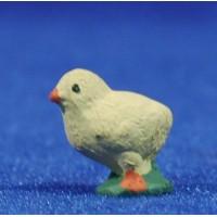 Pollito 10 cm barro pintado